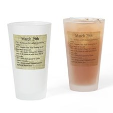 March 29th Drinking Glass