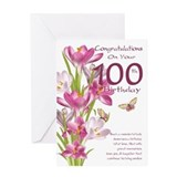 100th birthday crocus Greeting Cards