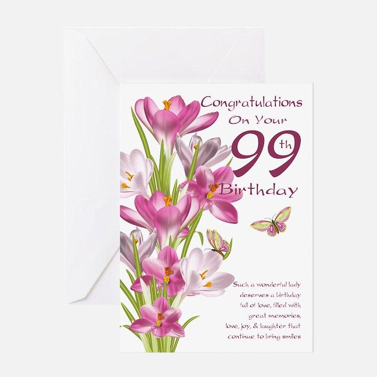 99th Birthday 99th Birthday Greeting Cards Card Ideas