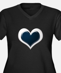 Black and White Hearts Plus Size T-Shirt