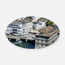 Zurich 001 Oval Car Magnet