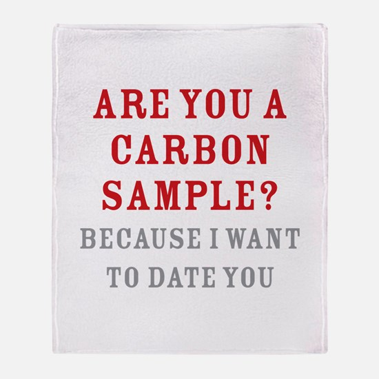 Carbon Dating Throw Blanket