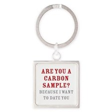 Carbon Dating Square Keychain
