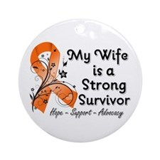 Wife Strong Survivor Ornament (Round)