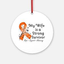Wife Strong Survivor Ornament (Round)