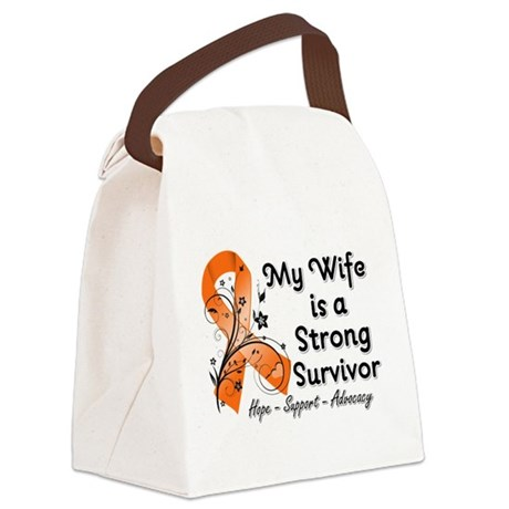 Wife Strong Survivor Canvas Lunch Bag