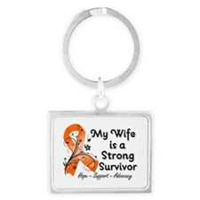 Wife Strong Survivor Landscape Keychain