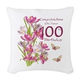 100 year old Throw Pillows
