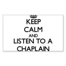 Keep Calm and Listen to a Chaplain Decal