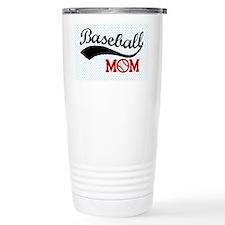 Baseball Mom Red/Blue P Travel Mug