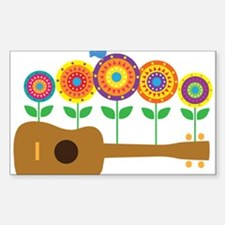 Ukulele Flower Decal