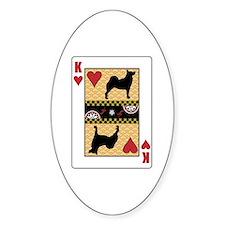King Buhund Oval Decal