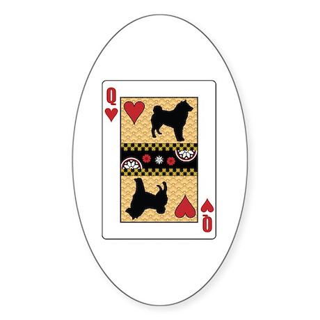 Queen Sheepdog Oval Sticker