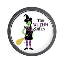 The Witch Is In Wall Clock