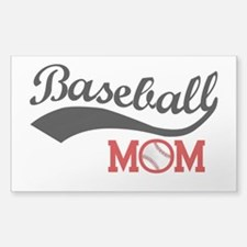 Baseball Mom Red/black Wave Decal