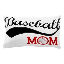 Baseball Mom Red/Black Wave Pillow Case