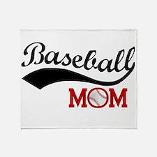 Baseball Mom Red/black Wave Throw Blanket