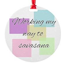 Working My Way to Savasana Ornament
