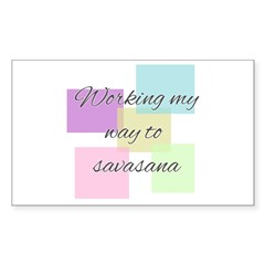 Working My Way to Savasana Decal