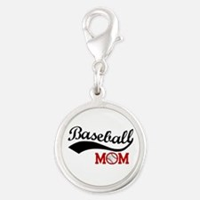 Baseball Mom Red/black Wave Charms