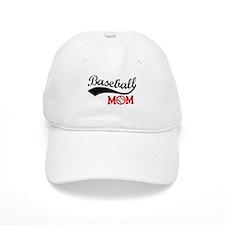 Baseball Mom Red/Black Wave Baseball Baseball Baseball Cap