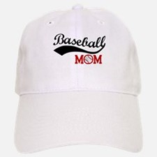 Baseball Mom Red/Black Wave Baseball Baseball Baseball Cap
