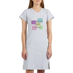 Working My Way to Savasana Women's Nightshirt