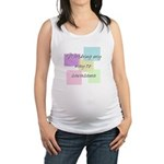 Working My Way to Savasana Maternity Tank Top