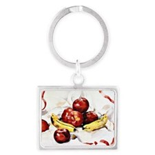 Charles Demuth - Apples and Ban Landscape Keychain