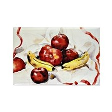 Charles Demuth - Apples and Banan Rectangle Magnet