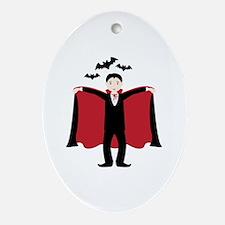 Little Dracula Ornament (Oval)
