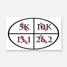 All runners goals completed Rectangle Car Magnet