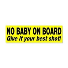 No baby on board Car Magnet 10 x 3