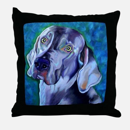 Weimaraner - Looker Throw Pillow