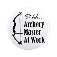 "Archery Master (compound) 3.5"" Button"