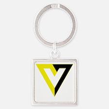 Voluntaryism Square Keychain