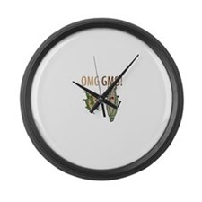 OMG GMO! Large Wall Clock