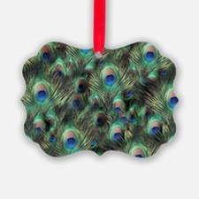 Peacock Feather Pattern Print Ornament