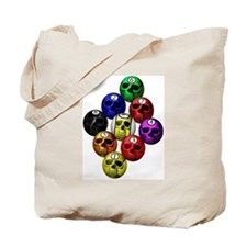 9 ball skull rack Tote Bag