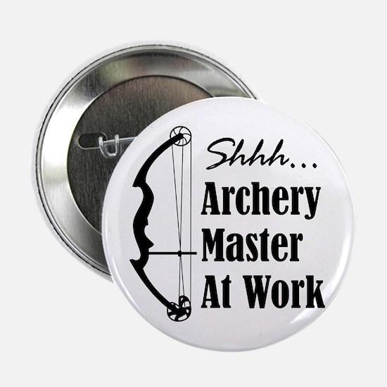 "Archery Master (compound) 2.25"" Button"
