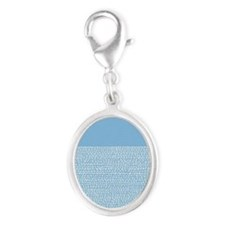 Riverside Placid Blue Silver Oval Charm