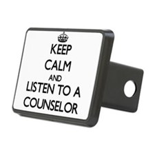 Keep Calm and Listen to a Counselor Hitch Cover
