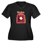 You're Toast Funny Women's Plus Size V-Neck Tee