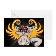 Frixie, Cat Fairy Greeting Card