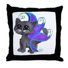Russian Blue frixie Throw Pillow