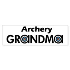 Archery Grandma Bumper Bumper Sticker
