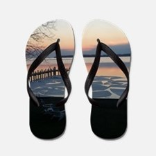 icy river puzzle Flip Flops