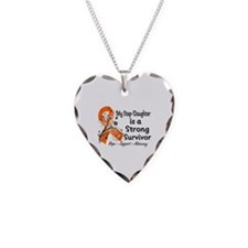 Step-Daughter Strong Survivo Necklace Heart Charm
