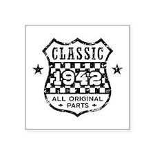 """Classic 1942 Square Sticker 3"""" x 3"""""""