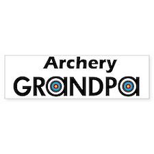Archery Grandpa Bumper Bumper Sticker